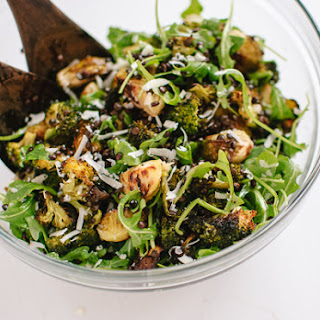 Roasted Broccoli, Arugula and Lentil Salad.