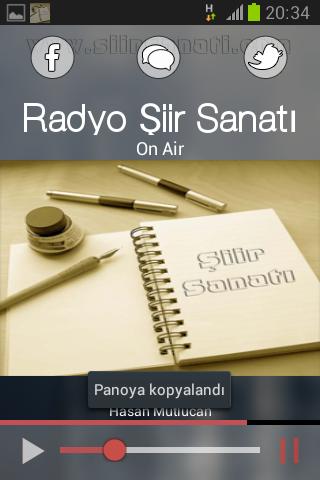 Radyo Şiir Sanatı Mobil Player