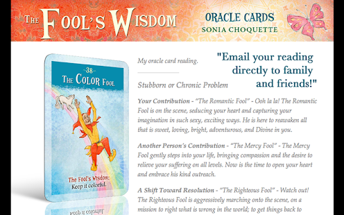 The Fool's Wisdom Oracle Cards - screenshot thumbnail