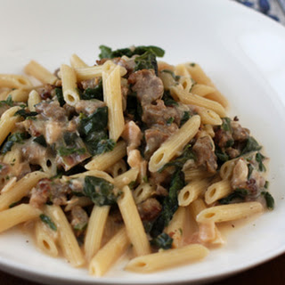 Penne Pasta With Sausage and Chard