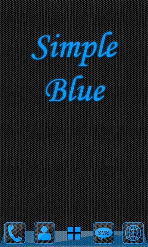 Simple Blue GO Launcher Theme - screenshot