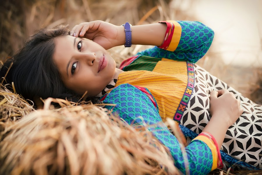 The Village Girl... by Rathin Halder - People Portraits of Women