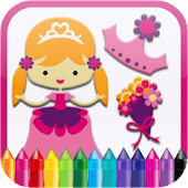 Princess Kids Coloring Book