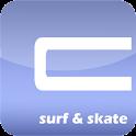 Surf & skate logo