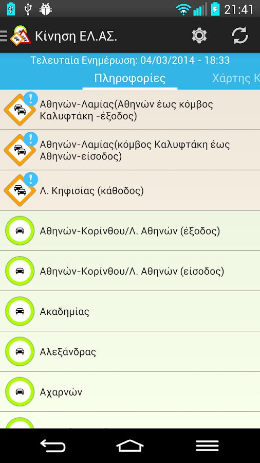 Κίνηση ΕΛ.ΑΣ. - screenshot
