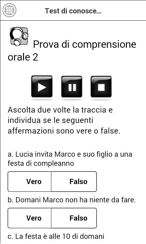 Test di italiano per stranieri - App Android su Google Play
