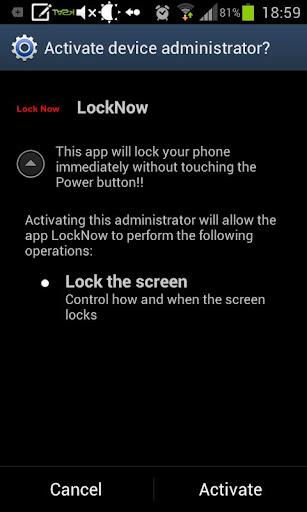Lock Screen Now