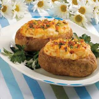 Cheesy Baked Potatoes.
