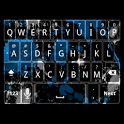 Blue Splatter Keyboard Skin icon