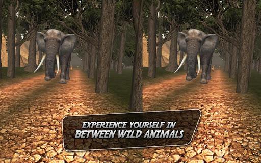 野生のジャングルツアーバーチャルリアリティ - 動物