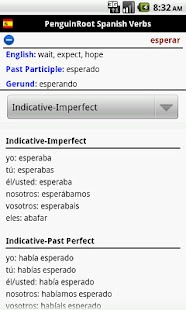 PenguinRoot Spanish Verbs FREE - screenshot thumbnail