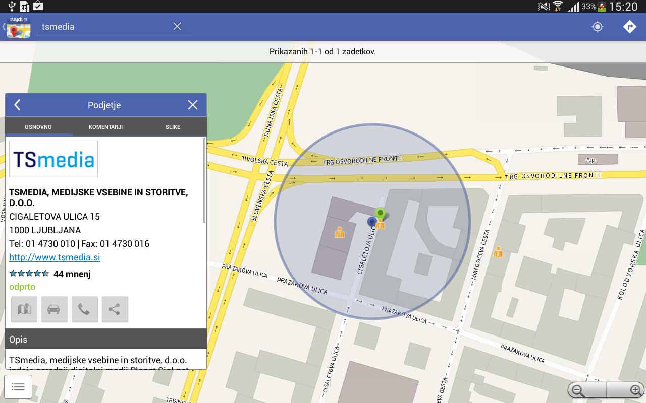 Najdi.si Zemljevid - screenshot