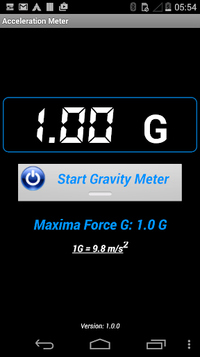 Acceleration Gravity Meter