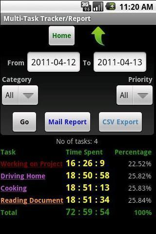 Multi-Task Tracker - screenshot