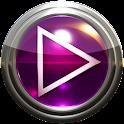 Poweramp vetro pelle rosa icon