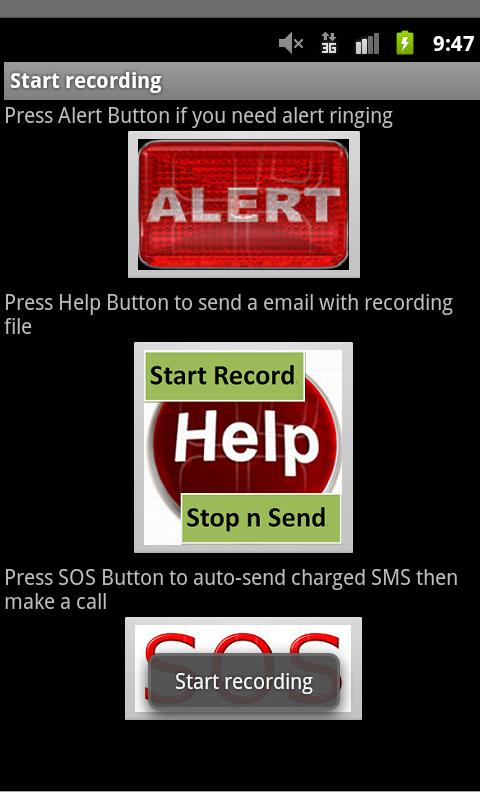 anti-Kidnap SOS Voice+ - screenshot