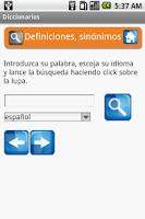 Screenshot of Diccionarios gratis