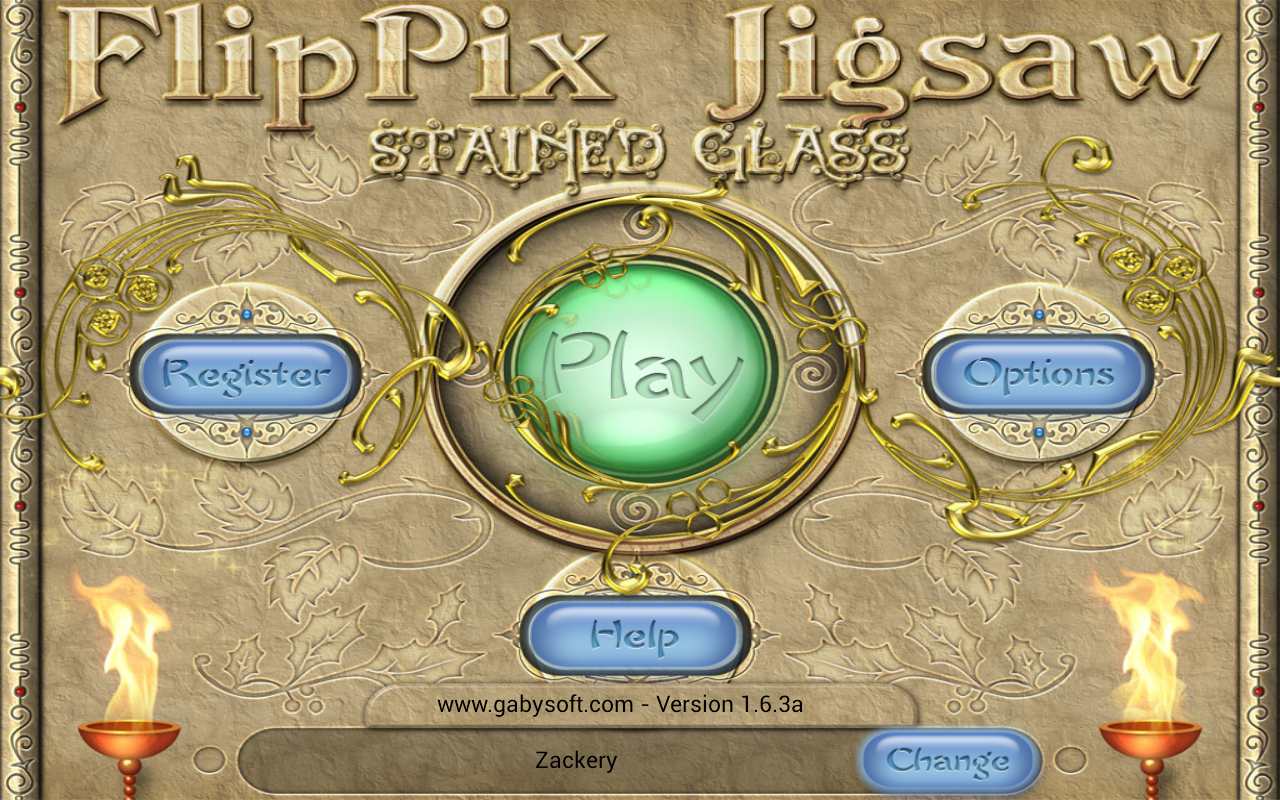 FlipPix Jigsaw - Stained Glass- screenshot