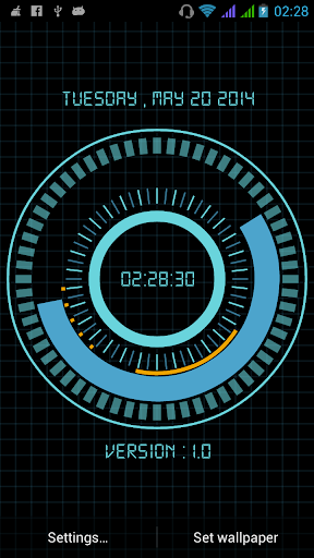 Animated Digital Clock