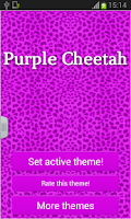Screenshot of Keypad Purple Cheetah