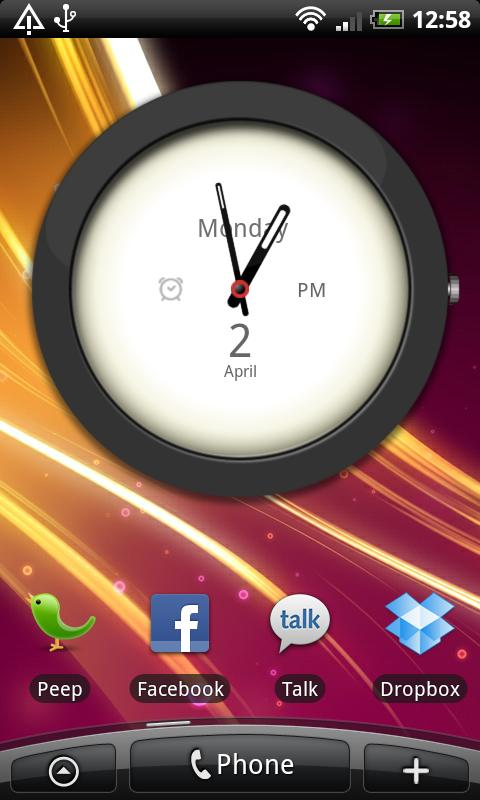 Big Clock Widget- screenshot