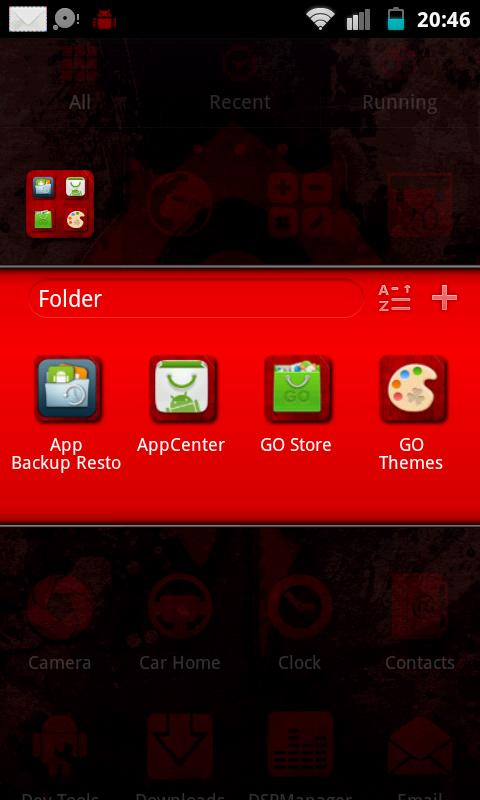 WoW Horde Go Launcher Theme - screenshot