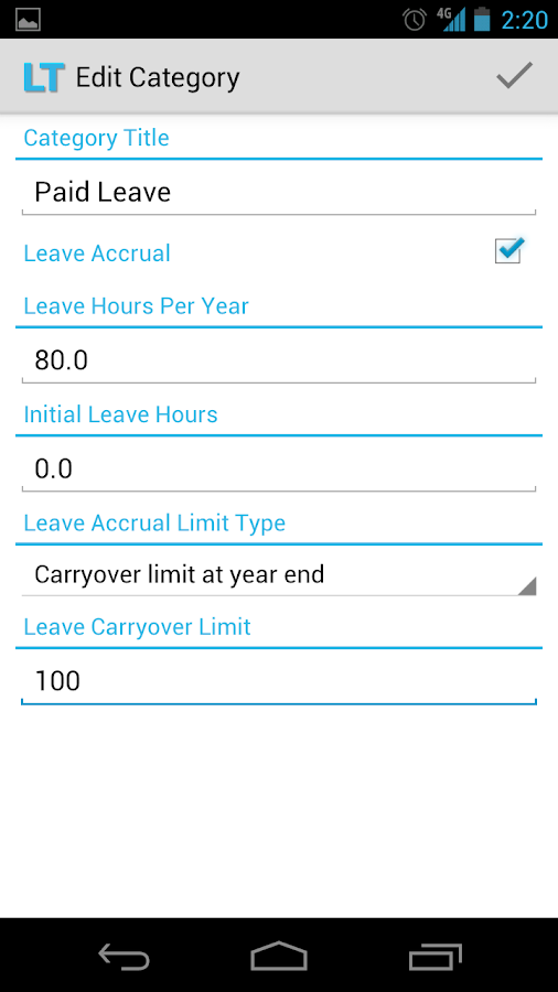 Leave Tracker- screenshot