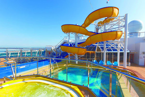 Costa-Favolosa-water-slide - The water slide on deck 13 of Costa Favolosa.