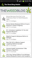 Screenshot of The Weed Blog Mobile