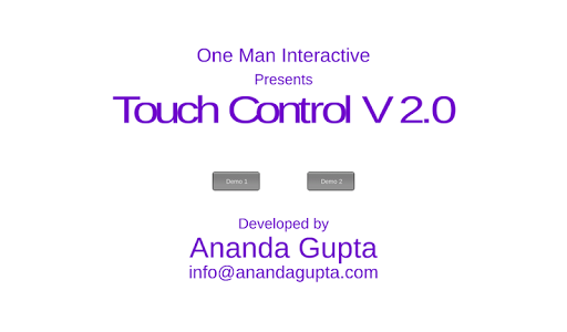 Touch Control Demo