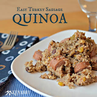 Easy Turkey Sausage Quinoa in a Rice Cooker.