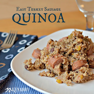Easy Turkey Sausage Quinoa in a Rice Cooker.
