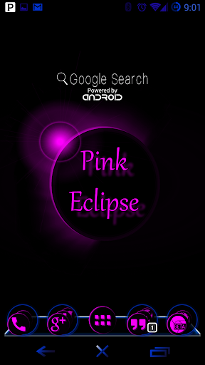 Pink Eclipse Launcher Theme