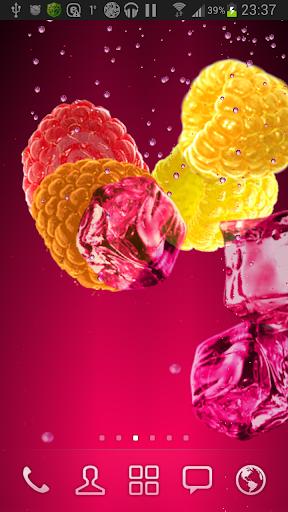 Малиновый сок живые обои