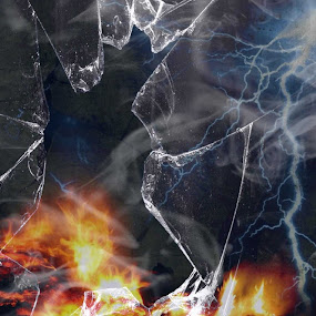 Demons Battle by Cecilia Sterling - Digital Art Abstract (  )