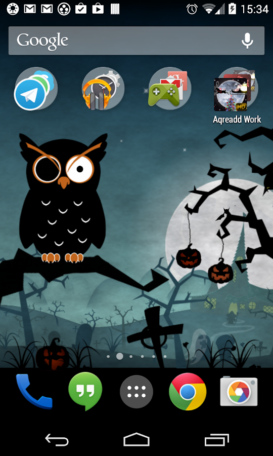 Halloween Live Wallpaper world - screenshot
