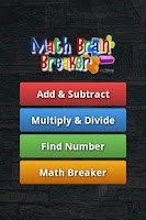 Screenshot of Math Brain Breaker