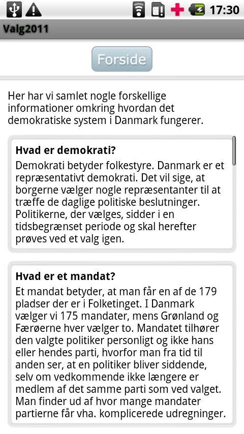 Valg2011- screenshot
