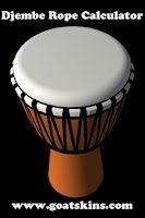 Screenshot of Djembe Rope Calculator