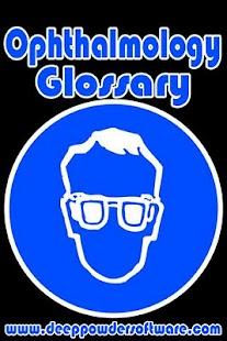Ophthalmology Glossary- screenshot thumbnail