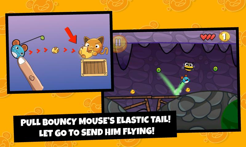 Bouncy Mouse Free - screenshot
