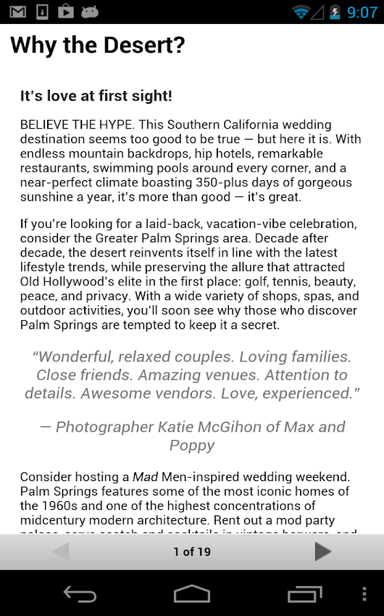 Palm Springs Weddings- screenshot
