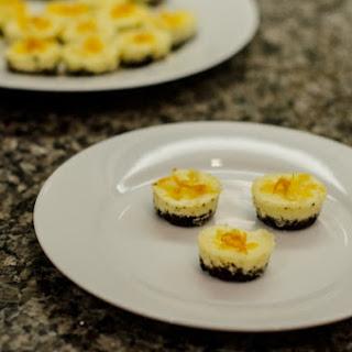 Mini Chocolate-Crusted Orange Cheesecakes
