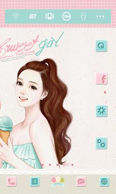 스위트걸 아이스크림 도돌런처 테마 - screenshot