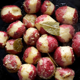 Braised Potatoes with Bay Leaves and Garlic Recipe