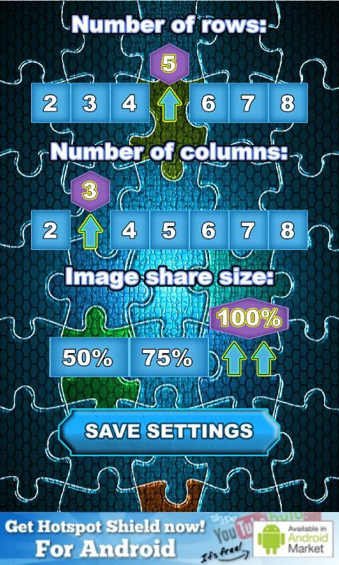 Share photo puzzle - screenshot