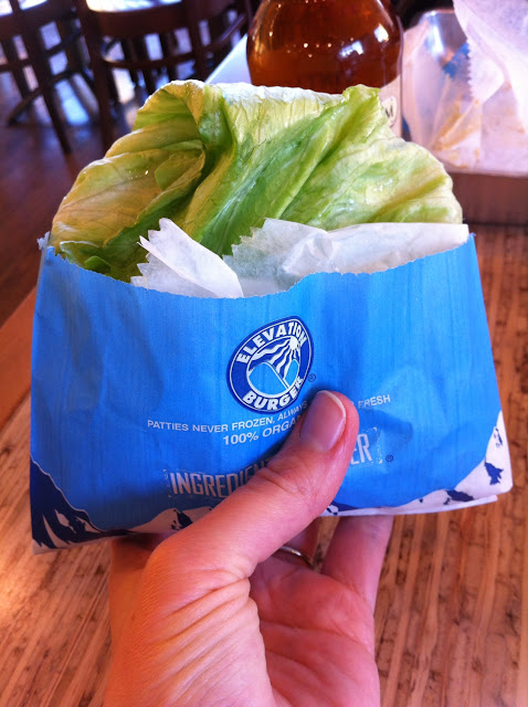 My burger wrapped  in lettuce for me :)