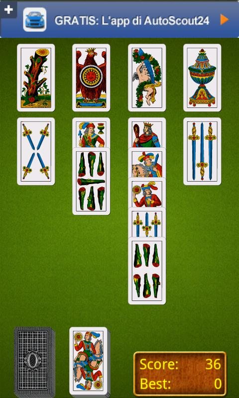 Italian Solitaire - screenshot