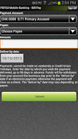Screenshot of PEFCU Mobile Banking