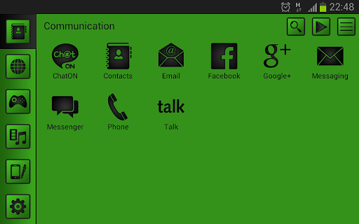 Smart launcher theme SoftGreen v1.0 APK